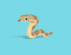 Fang the Cobra - Quirky Series 3D asset