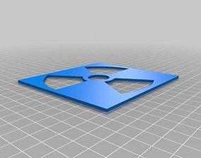 3D print model Radiation stencil