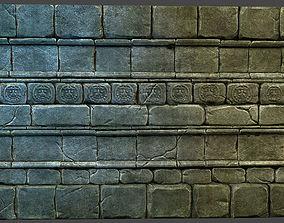 3D model Aztec Wall