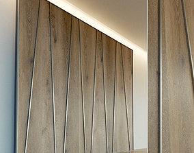 3D model Wooden wall panel 67