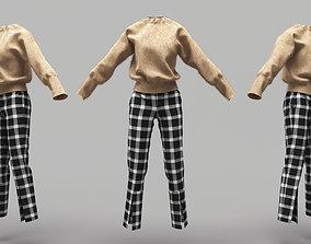 3D asset Female Clothing 10