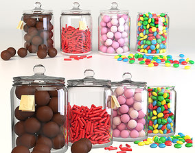 Candy bar 3D model jelly