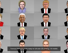 Famous Politcians busts ready for full color 3D