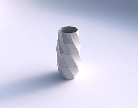 3D print model Vase tall twisted with large plates