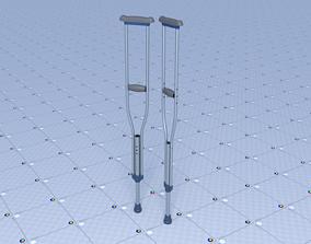 3D model realtime Crutches