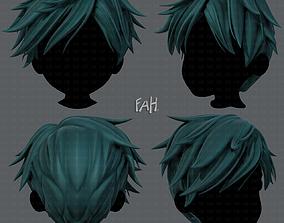 VR / AR ready 3D Hair style for boy V43