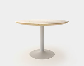 Dining table round for 4 people 3D model