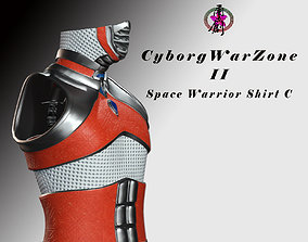 3D model Cyborg Warzone - Space Warrior Shirt-C