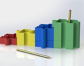 3D print model Puzzle pencil cup