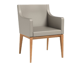 3D Bess Armchair Leather