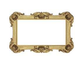 Carved Picture Frame 3D model rococo
