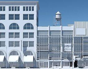 Commercial Building Facade 07 3D model
