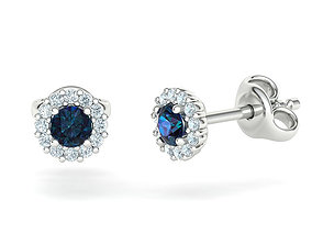 Bespoke Stud Earrings Sapphire Earrings printable