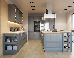 3D Kitchen Fortwood factory ZOV with decor