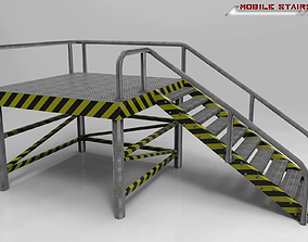 Mobile Stairs Lowpoly 3D model