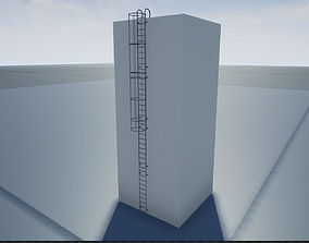 Modular Ladder 3D model animated