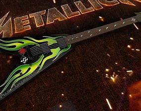 3D model Metallica - James Hetfield ESP JH-1 Green Flame V