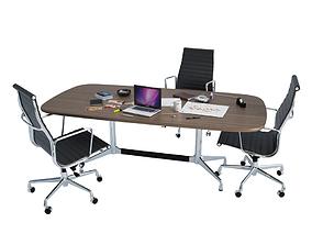 Office Desk Composition 3D model