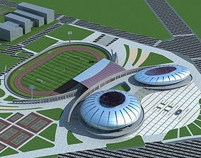 3D model Soccer Stadium 004