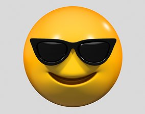 3D Emoji Smiling Face with Sunglasses