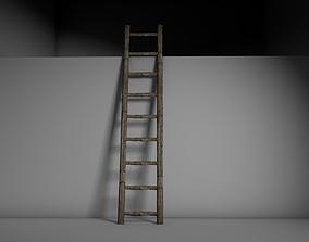 3D asset VR / AR ready Old Ladder