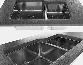 3D sink - undermount GAX 120 - by Franke