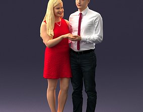 Young couple 0024 3D printable model
