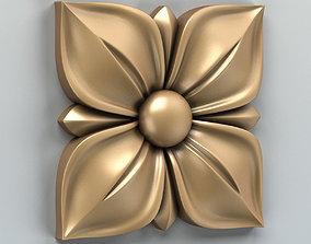 3D barocco Square rosette 007