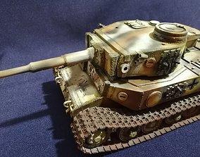 3D print model Tiger 1Porshe Tanks