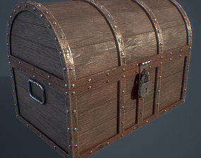 3D model Treasure chest 01