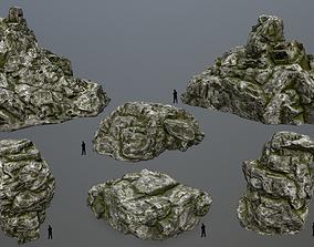 3D asset realtime plant rocks set