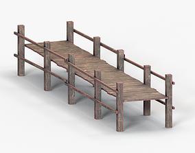 3D model VR / AR ready wood bridge