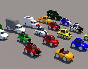 3D asset Cartoon Low Poly Car Pack