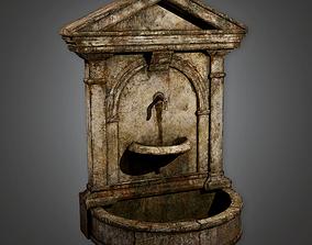 3D asset Cemetery Fountain 18 CEM - PBR Game