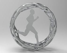 3D print model Running people pendant or reward cup