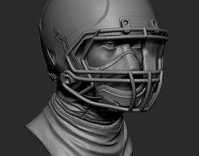 Football Helmet 3D printable Zbrush file