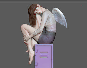 3D print model STUDENT GIRL ANGEL FEMALE PRETTY STATUE