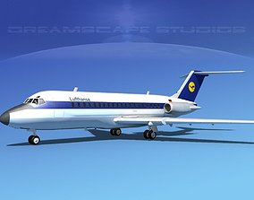 Douglas DC-9-20 Lufthansa 3D