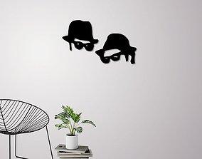3D print model Men in black wall decoration men