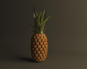Pineapple 3d model fruit pineapple
