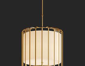 Sprocket 9 Light Matte Gold Pendant 3D model