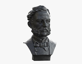 3D model Henry Dunant the founder of the Red Cros