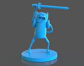 Finn The Human Sculpture and ZBrush 3D print model