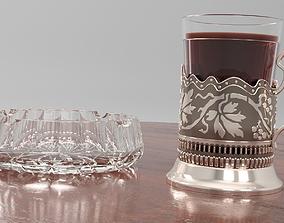 tea set kitchenware 3D model