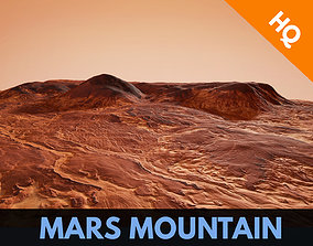 3D model Mars Planet Landscape Desert Mountain Cliffs 3