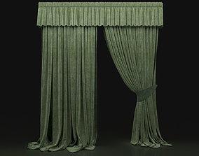 Curtain Green-7 3D