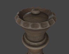 CHES-023 Wooden Queen 3D