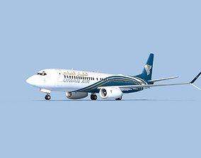 Boeing 737-800 Max Oman Air 3D