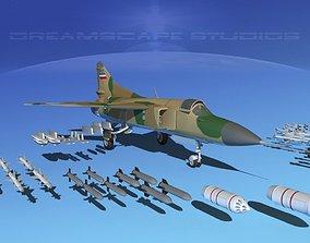 Mig-23 Fighter Yugoslavia 3D