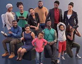 1010 - Ethnic Bundle Casual People of african origin 3D